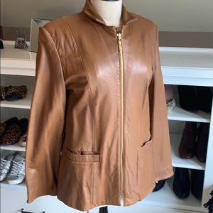 Jones New York leather jacket - size M